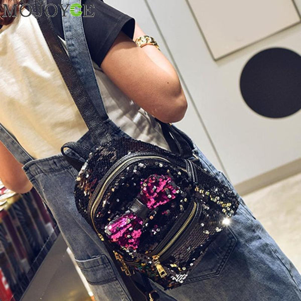 Big Bow Sequin Backpack