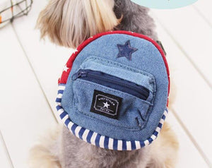 Classic Denim Star Mini Pet Backpack