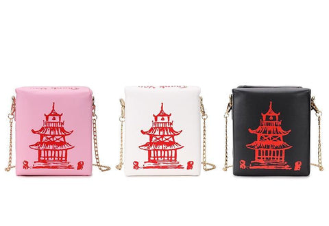 Chinese Takeout Box Shoulder Bag