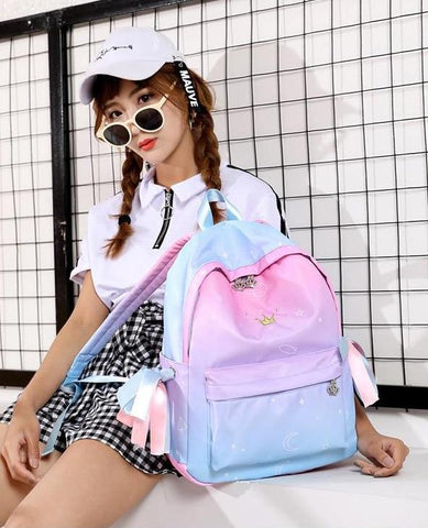 Pastel Crown Backpack