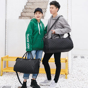 Diamond Lattice Duffel Bag