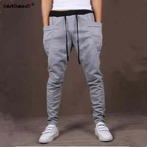 8 Colors 2017 Unique Pocket Mens Joggers Cargo Men Pants Sweatpants Harem Pants Men Jogger Pants Men Pantalones Hombre-moflily