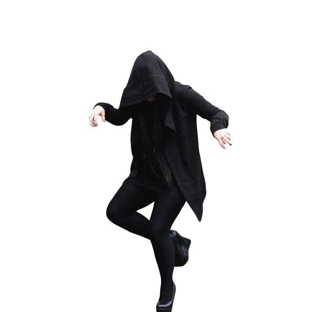 2017 trench coat men darkness with the witch in the long section of the windbreaker male hooded assassin creed sweater cloak-moflily