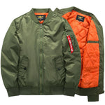 2017 High quality Ma1 Thick and thin Army Green Military motorcycle Ma-1 aviator pilot Air men bomber jacket-moflily
