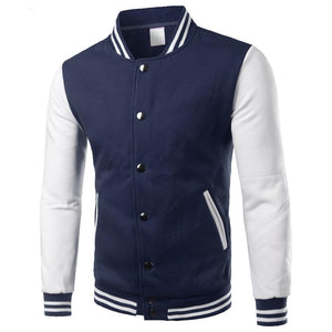 Classic Navy Blue Varsity Jacket Men/Women 2017 Autumn Mens Fashion Fleece College Baseball Jackets Bomber Veste Homme Xxxl-moflily