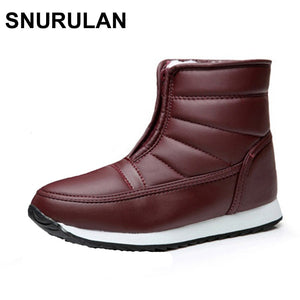 SNURULAN Snow Boots Woman Ankle Boots Winter Female Shoes Fashion Zipper 2017 Casual Women Boots Waterproof Ladies Shoes-moflily