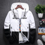 New Spring Autumn Bomber Hooded Jacket Men Casual Slim Patchwork Windbreaker Jacket Male Outwear Zipper Thin Coat Brand Clothing-moflily
