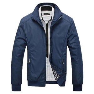 2018 new style Jacket Coat Men Wear Autumn Jackets Clothing Dress High quality Spring Jacket men mandarin collar cotton 45-moflily