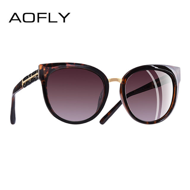 AOFLY BRAND DESIGN Hand Made Luxury Cat Eye Sun glasses For Women Polarized Sunglasses Goggles UV400 A138-moflily