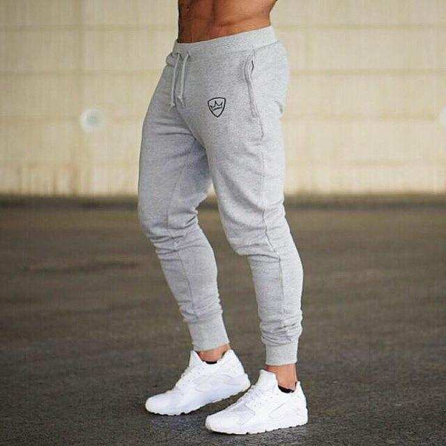 2018 New Men Joggers Brand Male Trousers Casual Pants Sweatpants Jogger Dark grey Casual Elastic cotton GYMS Fitness Workout pan-moflily