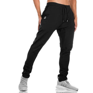 2018 Autumn new mens cotton Sweatpants gyms Fitness workout solid trousers male Casual fashion Pencil Pants Joggers sportswear-moflily