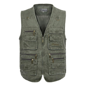 Oversize 5XL Multifunction Men Vest With Many Pockets Quick Dry Sleeveless Waistcoat Travel Clothes Photography Vest-moflily