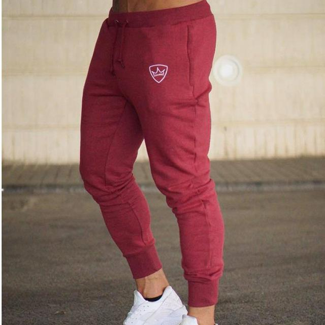 2018 Men Gyms Long pants Mid Cotton Men's Sporting workout fitness Pants casual Fashion sweatpants jogger pant skinny trousers-moflily