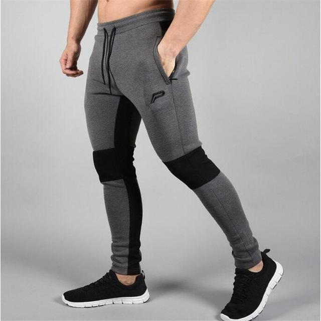 2018 Men's Jogger Brand Casual Pants Fitness Men's Trousers Muscle Brothers Exercise Men's Pants Men's Pants Fitness trousers-moflily