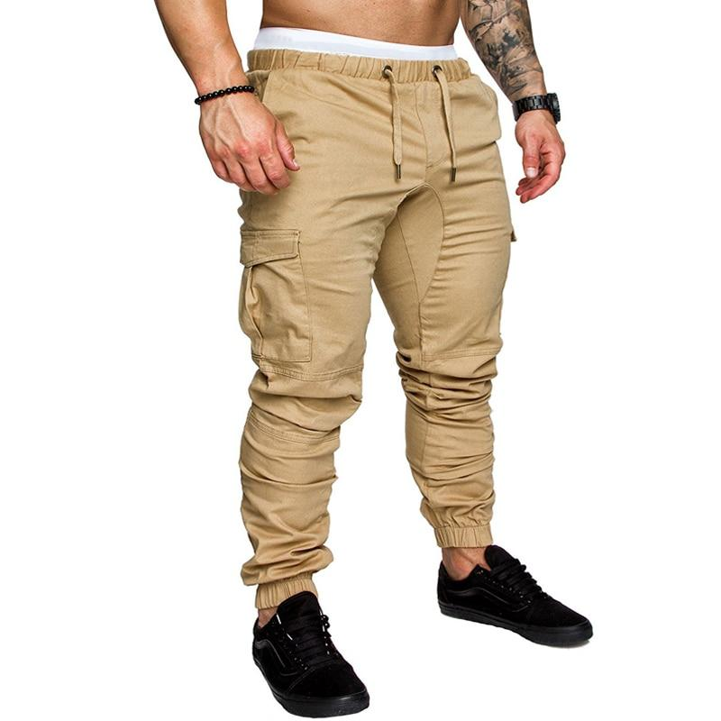 2018 New Fashion Brand Men's Pants Slim Solid Color Elasticity Men Casual Pants Man Trousers Designer Khaki Mens Joggers M-4XL-moflily