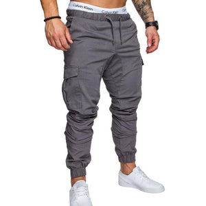 Brand Men Pants Hip Hop Harem Joggers Pants 2018 Male Trousers Mens Joggers Solid Multi-pocket Pants Sweatpants M-4XL-moflily