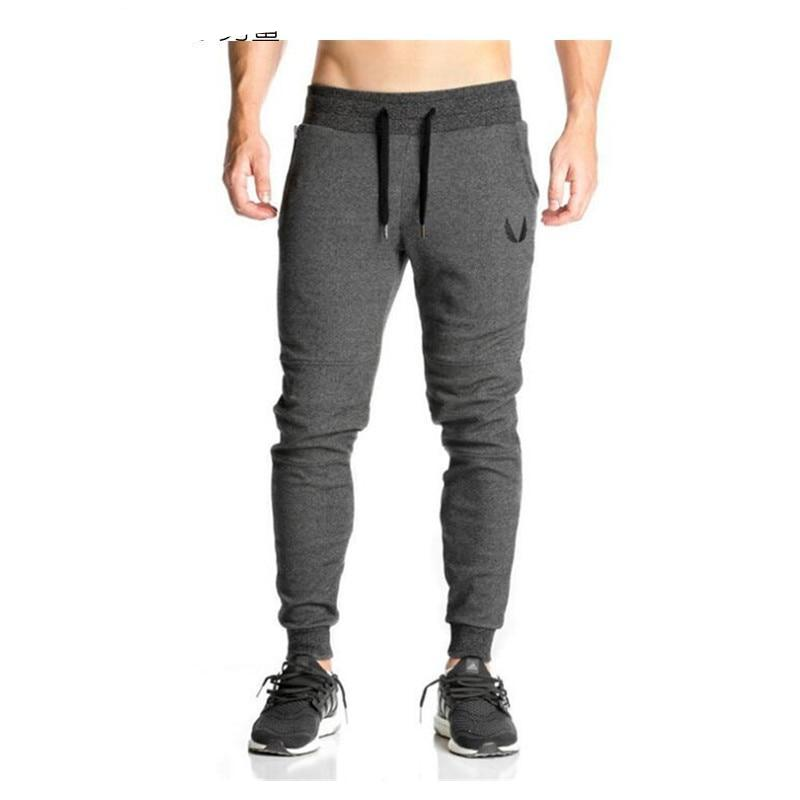 2017 Cotton Men Jogger sportswear Pants Casual Elastic cotton Mens Fitness Workout Pants skinny Sweatpants Trousers Jogger Pants-moflily
