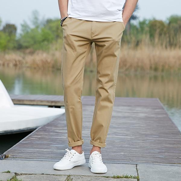 Pioneer Camp 2018 casual pants men Brand clothing High quality Spring summer Long Khaki Pants Elastic male Trousers 655110-moflily