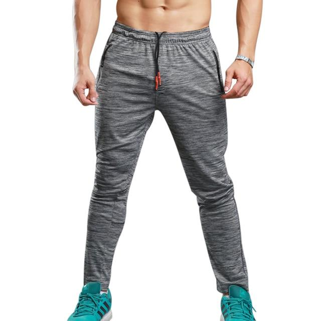 NIBESSER Brand Summer Fitness Men's Pants Elastic Breathable Sweat Pants Grey Drawstring Pants Trousers Zipper Pantalon Homme-moflily