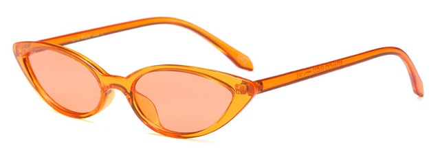 SHAUNA Popular Women Sunglasses Small CatEye Fashion Men Orange Glasses UV400-moflily