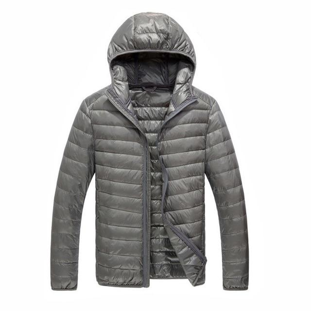New Men Winter Jacket Ultra Light 90% White Duck Down Jackets Casual Portable Winter Coat for Men Down Parkas Plus Size NF0A3C6E-moflily