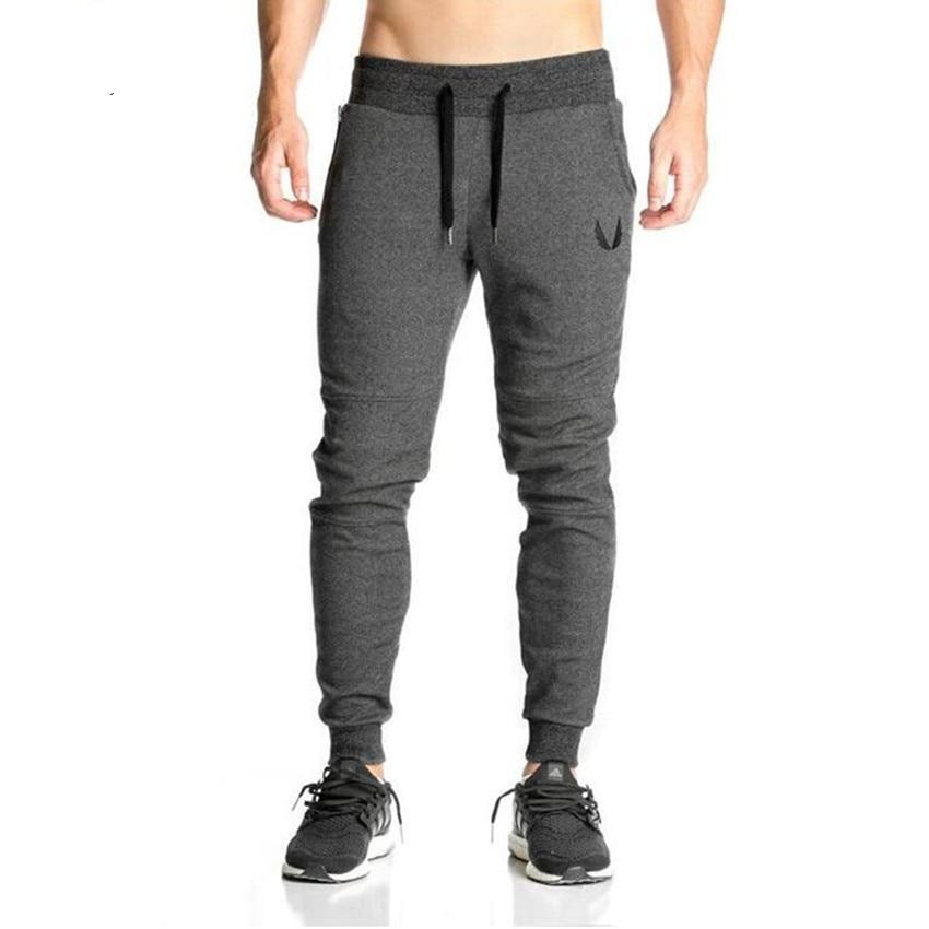 2018 Cotton Men Full Sportswear Pants Casual Elastic Cotton Mens Fitness Workout Pants Skinny Sweatpants Trousers Jogger Pants-moflily