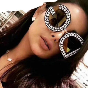 GUVIVI Diamond D And G Round Sunglasses Women 2018 New Luxury Brand Designer Ladies Shades Square DG Sunglasses For Female UV400-moflily
