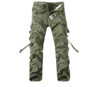 2018 New Men Cargo Pants army green big pockets decoration mens Casual trousers easy wash male autumn army pants plus size 42-moflily