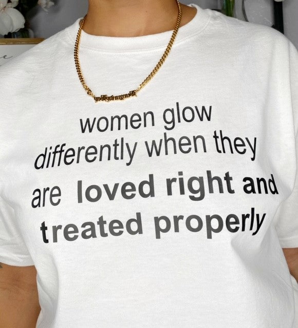 Women Glow Differently Tee