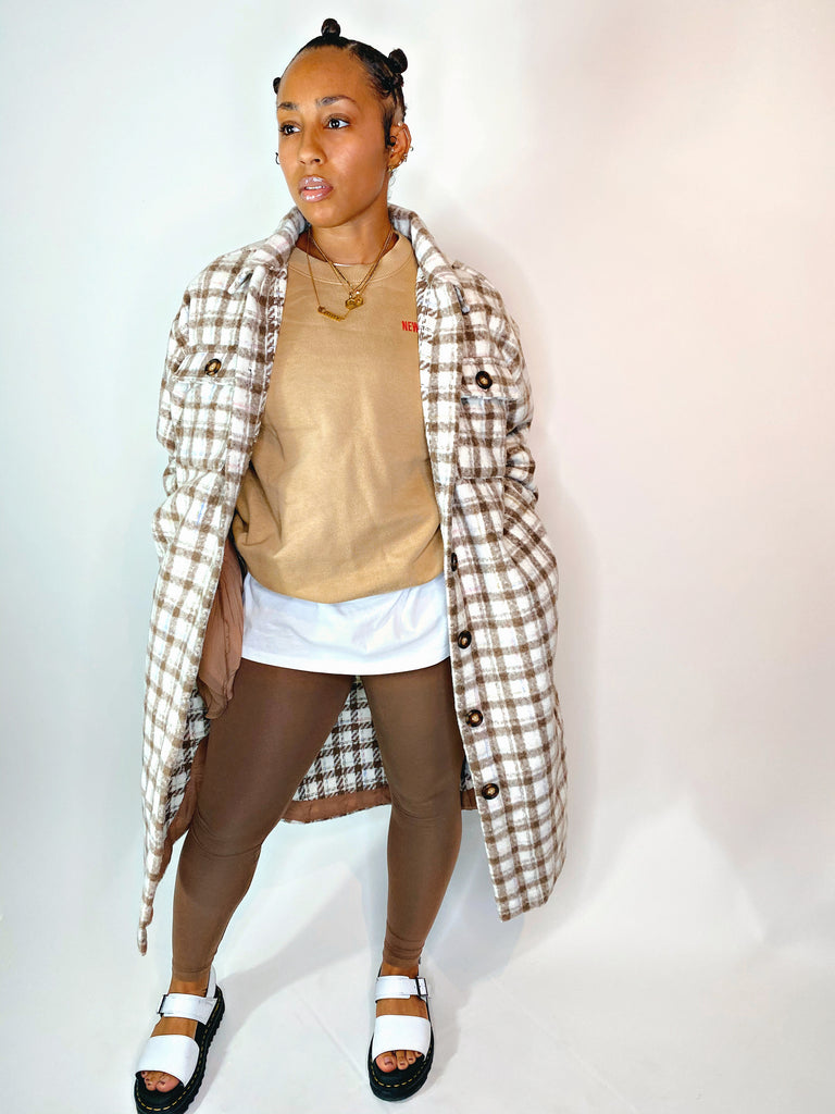 Taupe Flannel Jacket