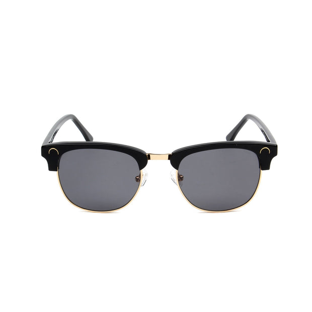 Cannes Jet Black - Front View - Grey lens - Mawu Sunglasses