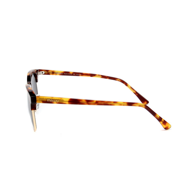 Cannes Tortoise - Side View - Grey lens - Mawu Sunglasses