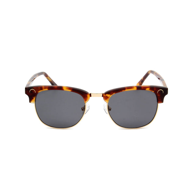 Cannes Tortoise - Front View - Grey lens - Mawu Sunglasses