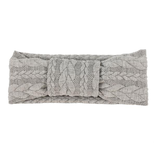 Tiny Turban Headband grau