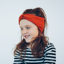 Load image into Gallery viewer, Tiny Twist Headband rusty red