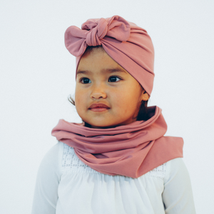 Tiny Turban Headwrap rose pink