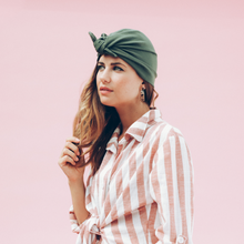 Laden Sie das Bild in den Galerie-Viewer, Tiny Turban Headwrap olive