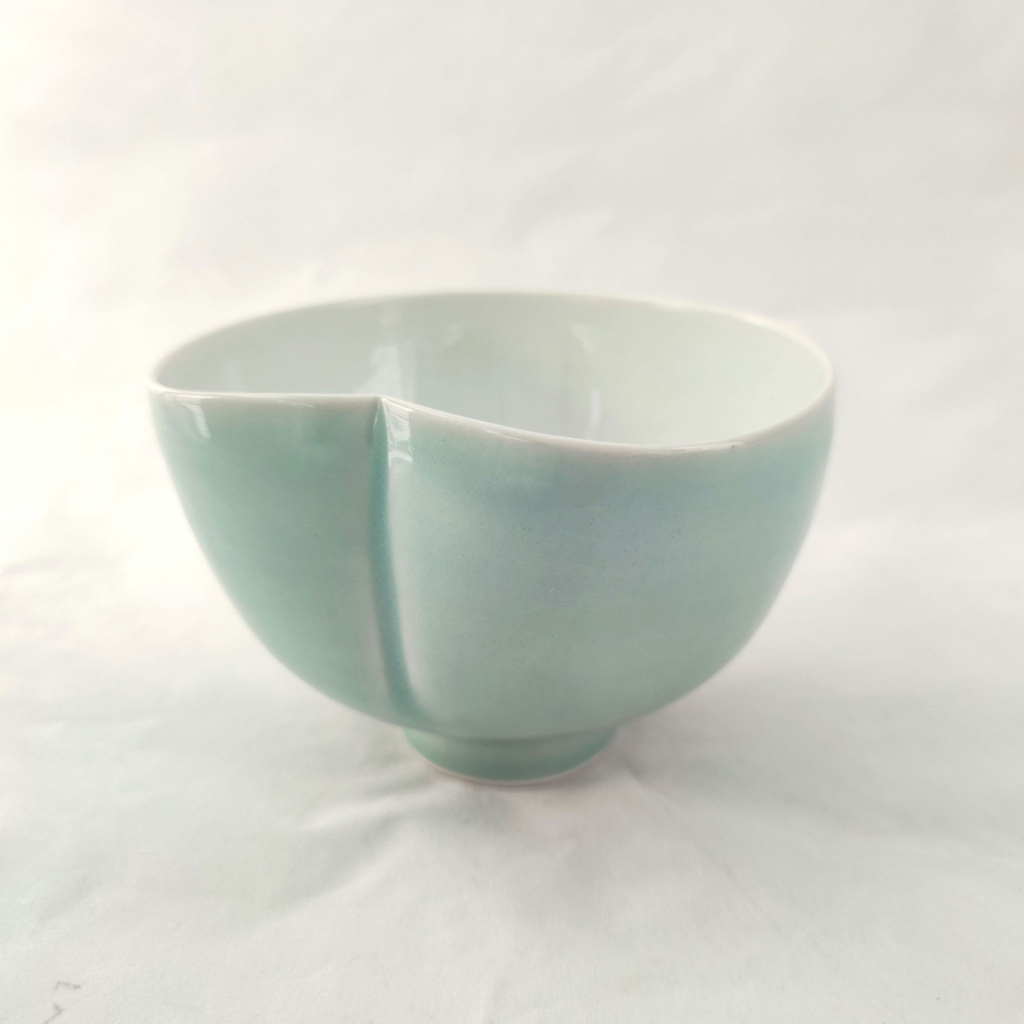 Porcelain Heart/Lily Pad Shaped Bowl
