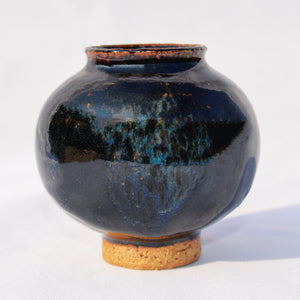 Blue Chun & Tenmoku Moon Jar