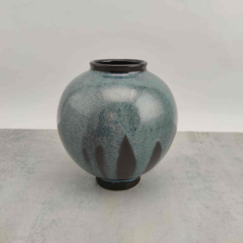 Blue Reactive & Tenmoku Moon Jar