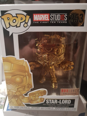 Marvel 10th Anniversary Chrome Star- Lord Boxlunch Exclusive