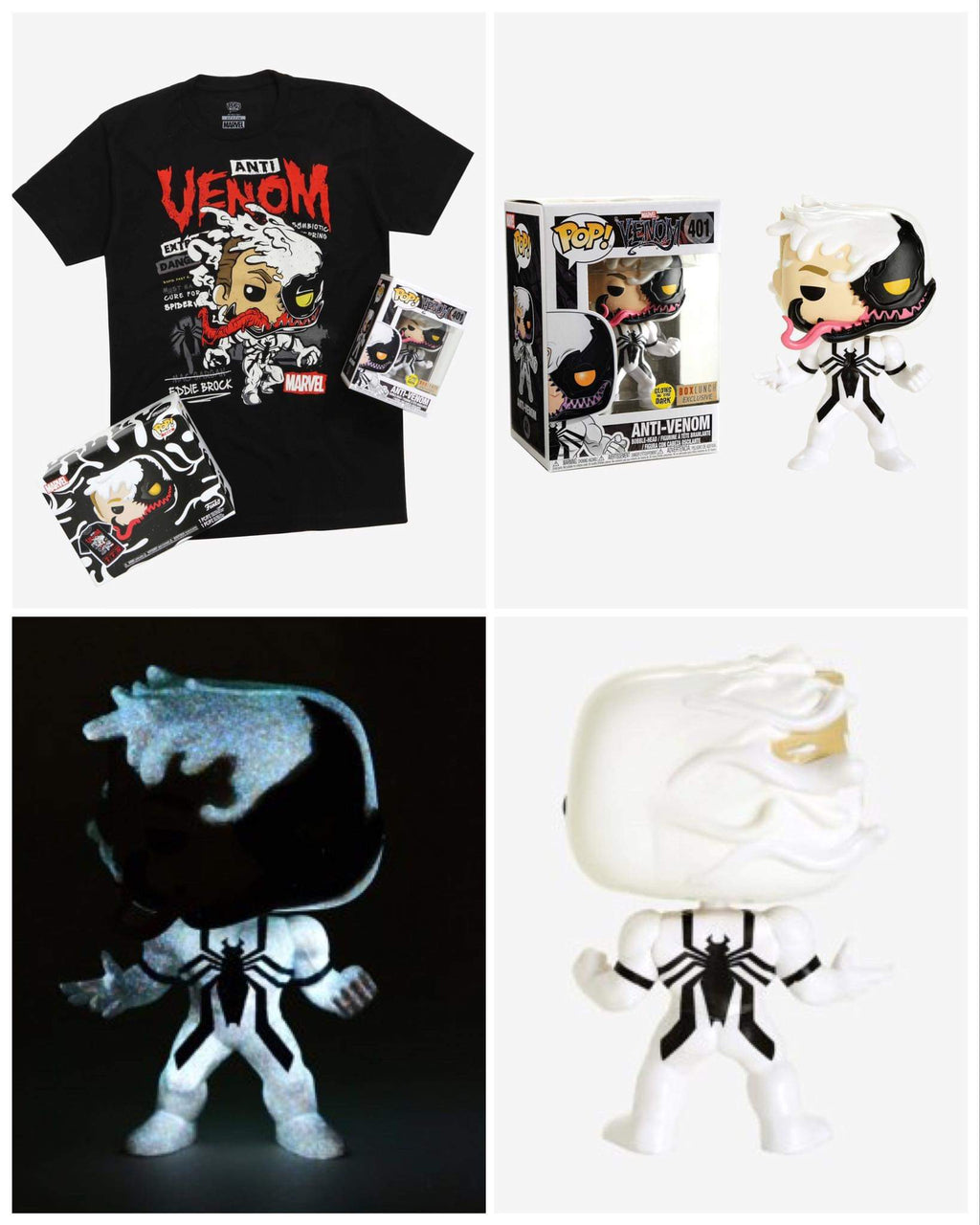 Anti Venom Vinyl Bobble-Head & T-Shirt - BoxLunch Exclusive