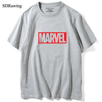 MARVEL t Shirt woman cotton short sleeves Casual male tshirt marvel shirts tops Graphic Tees  plus size
