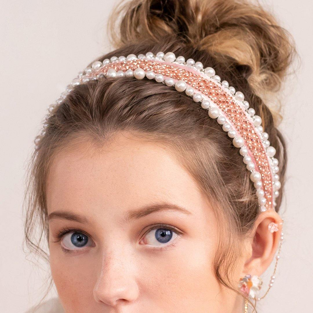 Aurora Crystal Ribbon Headband - Pamycarie Hong Kong