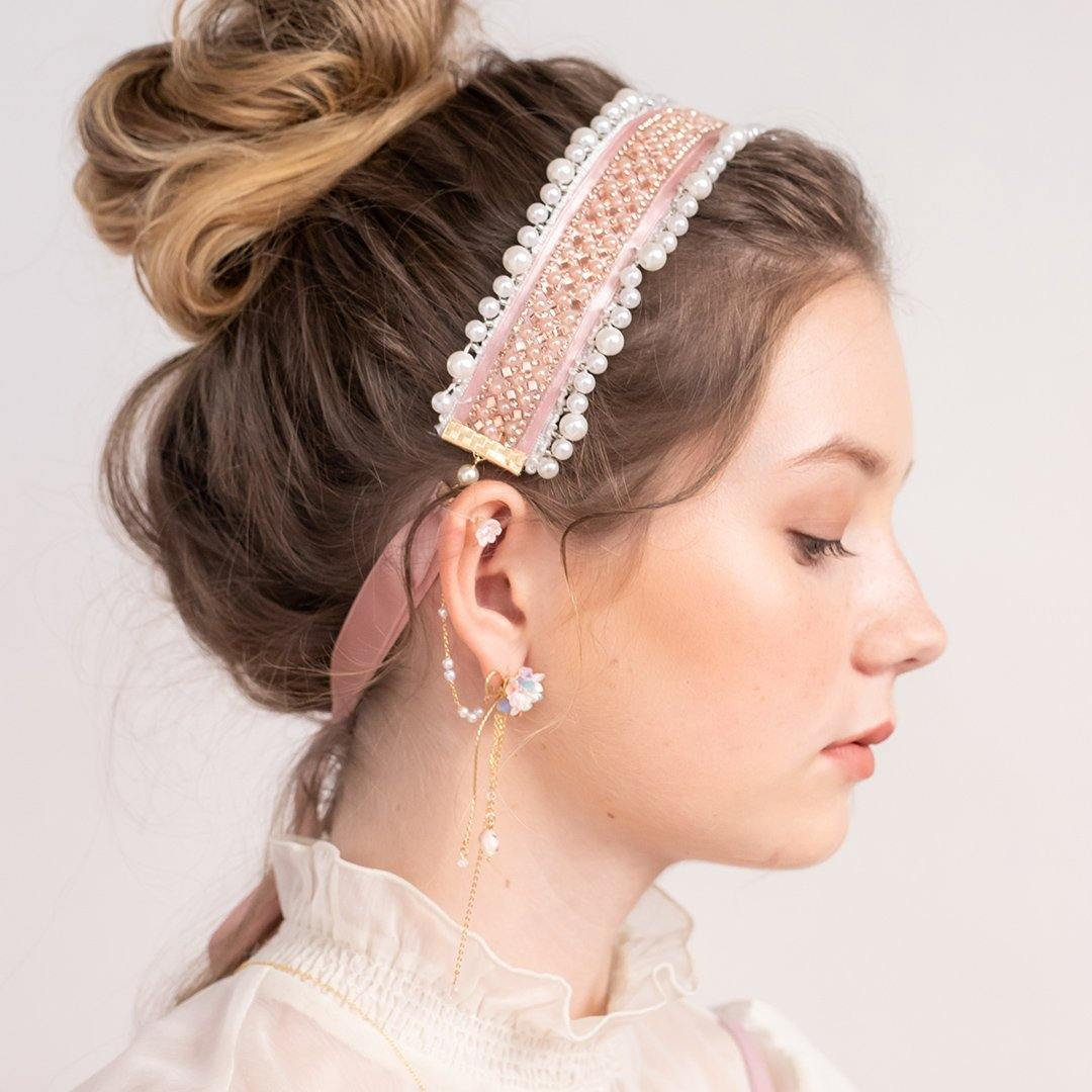 Aurora Crystal Ribbon Headband