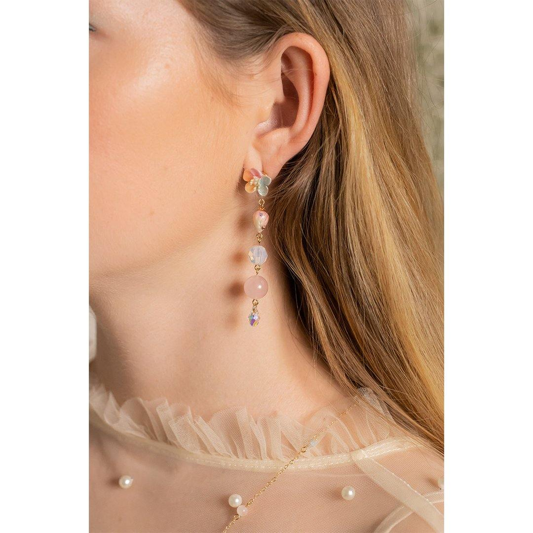 Cotton Candy 2-way 14K Gold-plated 925 Silver Earrings