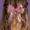 Winter's Gift Ribbon Hair Clips