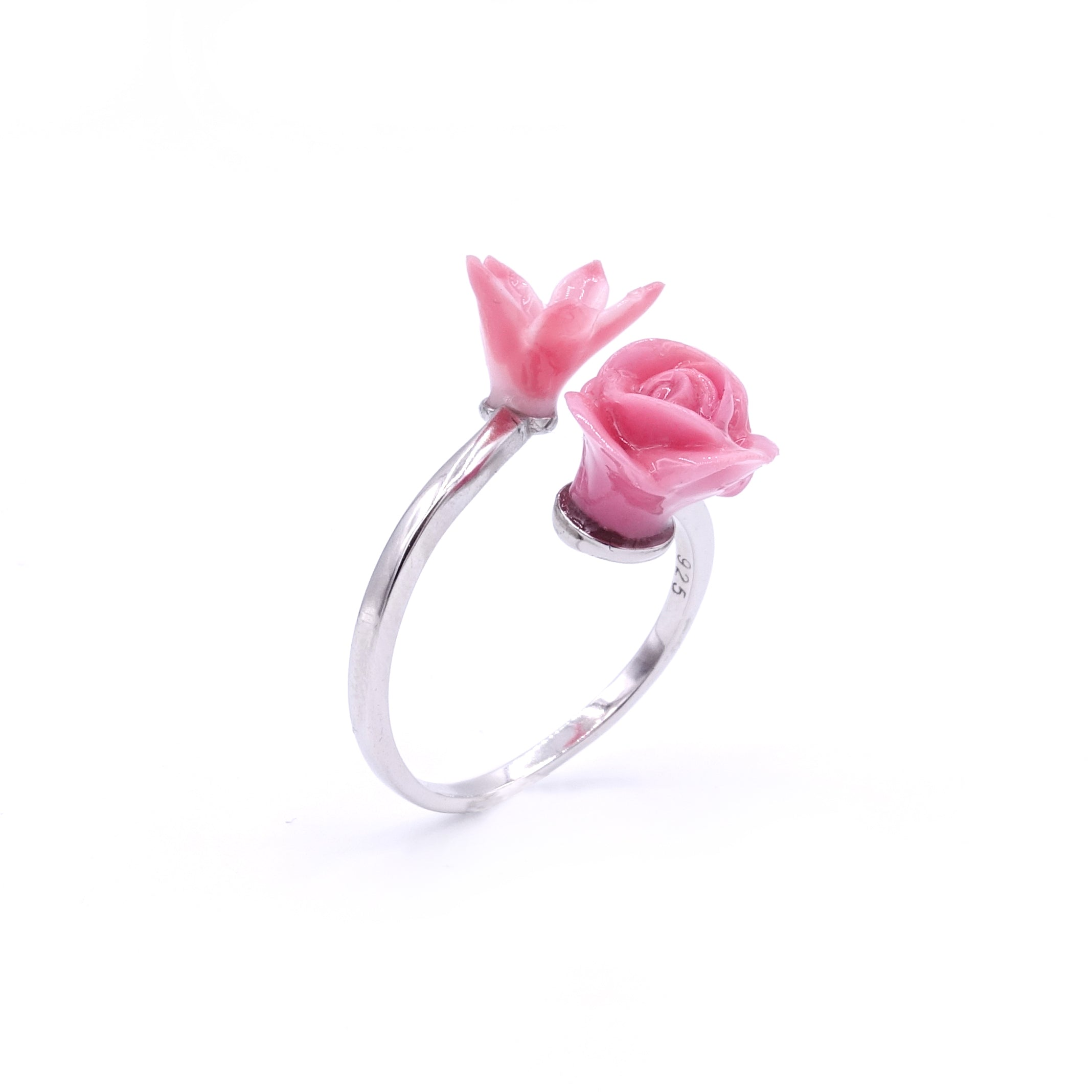 ROSY ROSIE Floral 925 Sterling Silver Ring