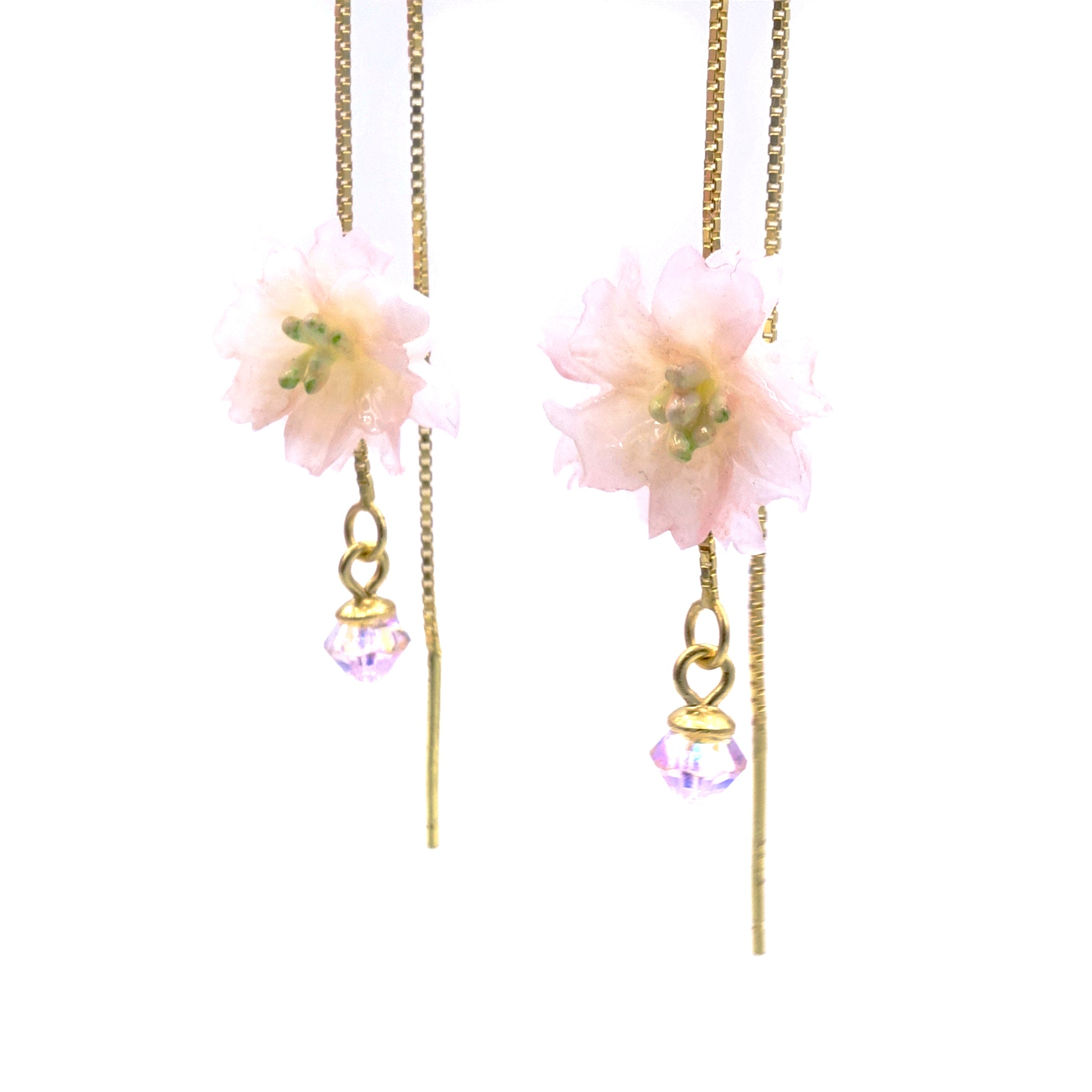 SAKURA COLLECTION Noon-Sakura Floral Ear Chains