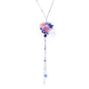 SAKURA COLLECTION Night-Sakura 925 Silver Crystal Necklace